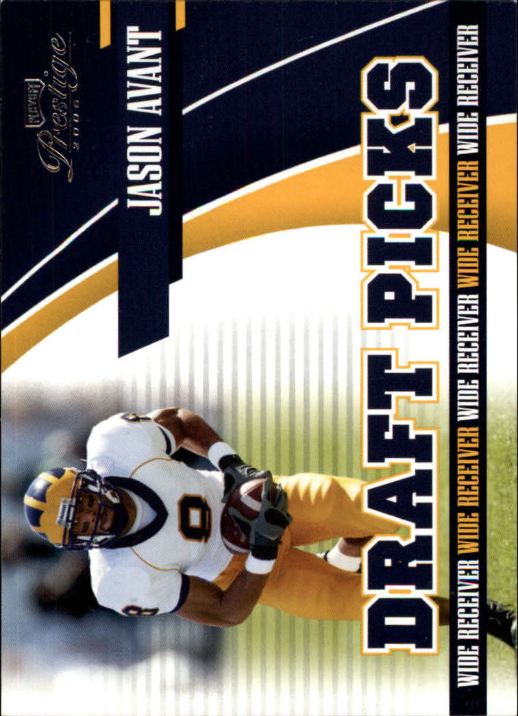 2006 Playoff Prestige Draft Picks #9 Jason Avant