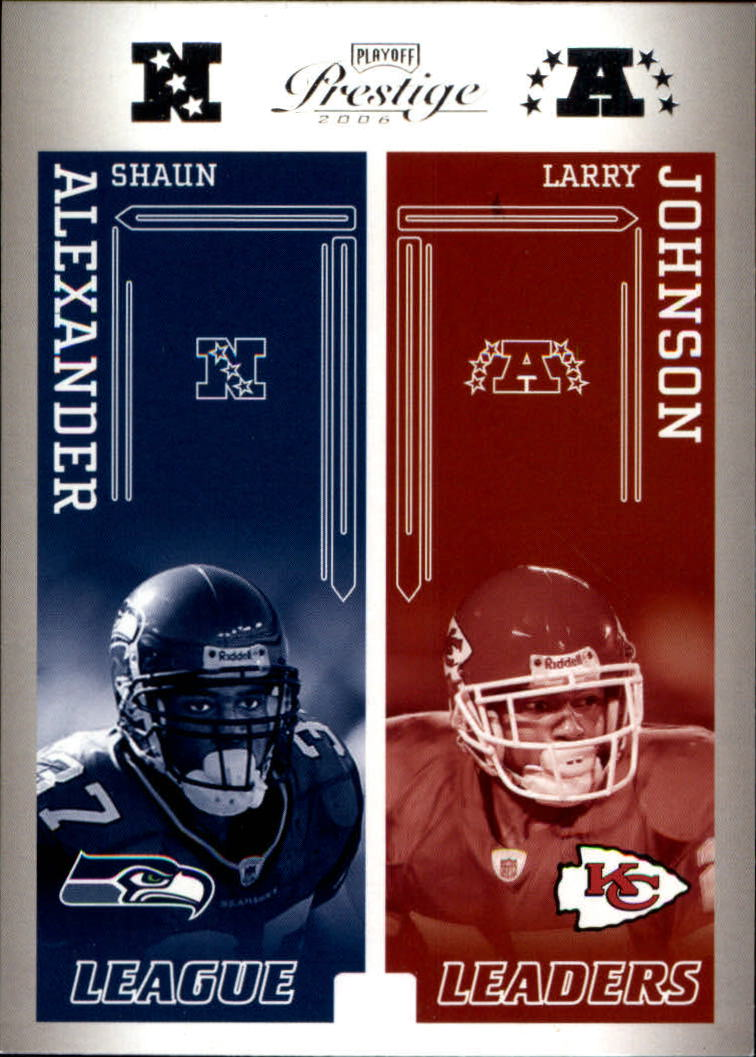 2006 Playoff Prestige League Leaders #27 Shaun Alexander/Larry Johnson/Steve Smith/LaDainian Tomlinson