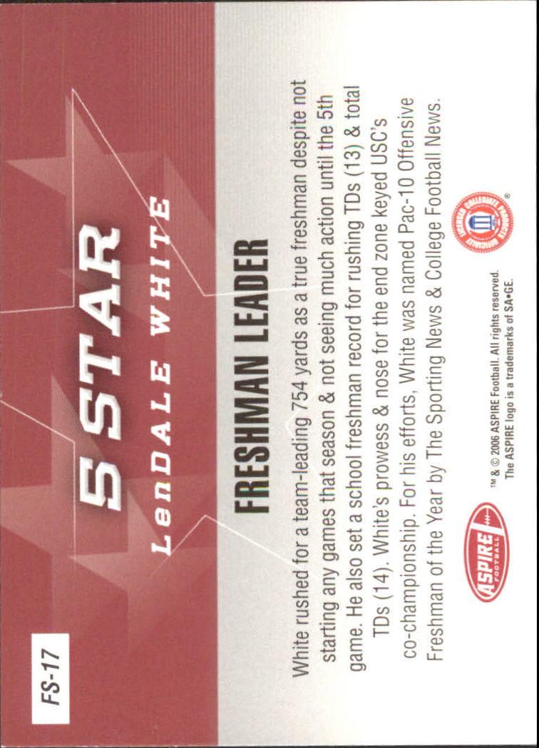 2006 Aspire 5 Star #FS17 LenDale White back image