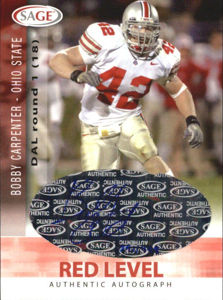 2006 SAGE Autographs Red #A11 Bobby Carpenter/999