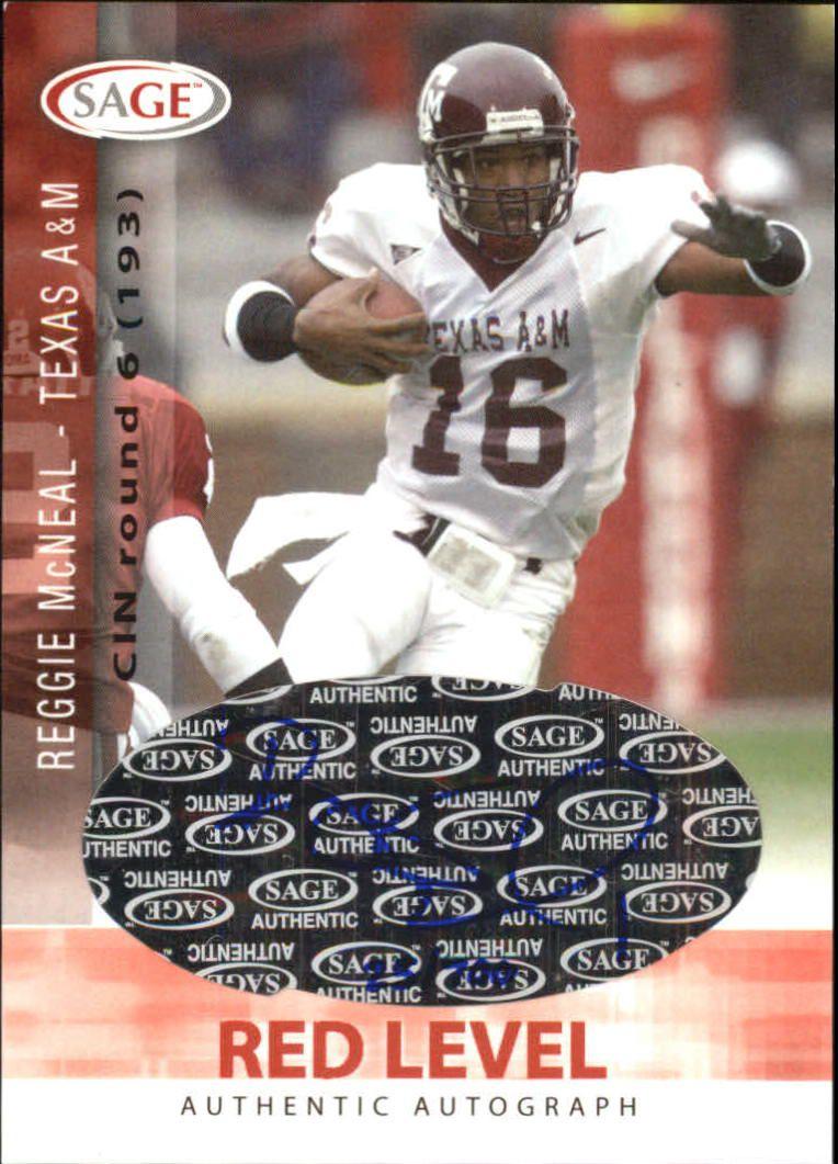 2006 SAGE Autographs Red #A33 Reggie McNeal/700