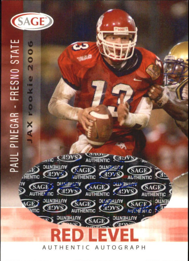 2006 SAGE Autographs Red #A40 Paul Pinegar/999