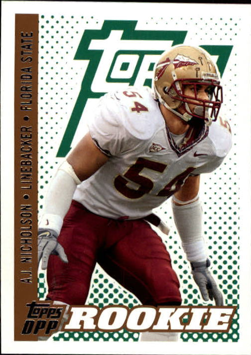 2006 Topps Draft Picks and Prospects #122 A.J. Nicholson RC