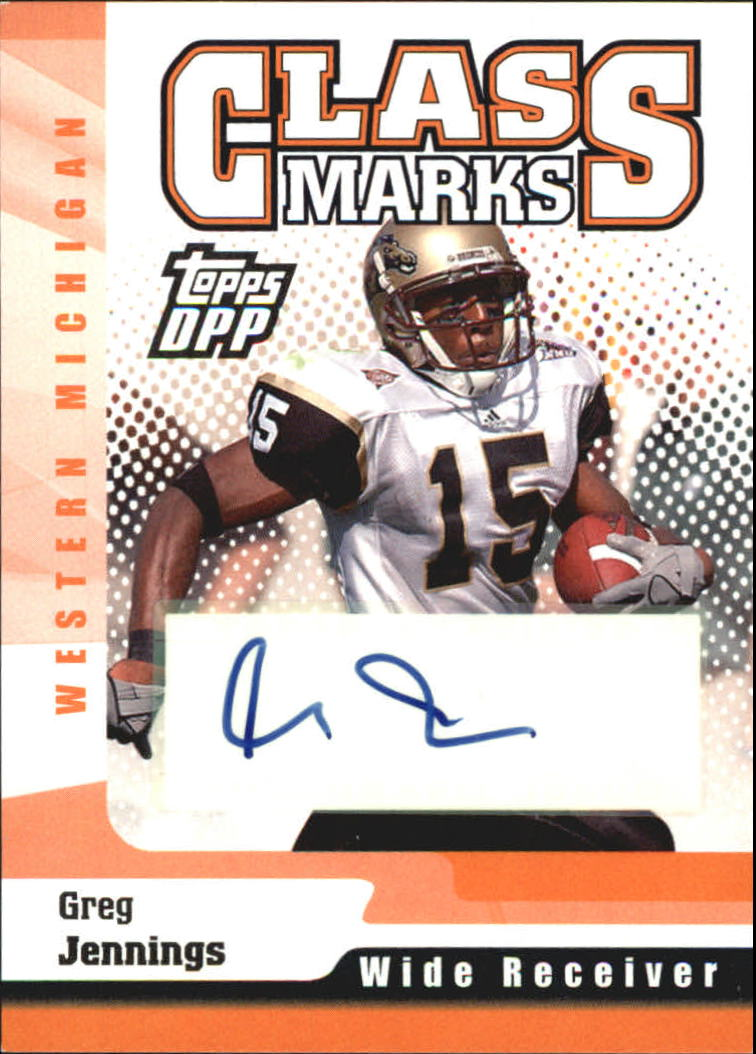 2006 Topps Draft Picks and Prospects Class Marks Autographs #CMGJ Greg Jennings F