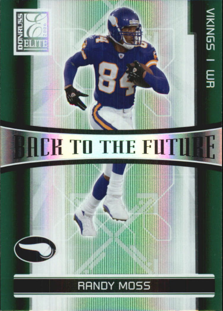 2006 Donruss Elite Back to the Future Green #9 Randy Moss/Nate Burleson