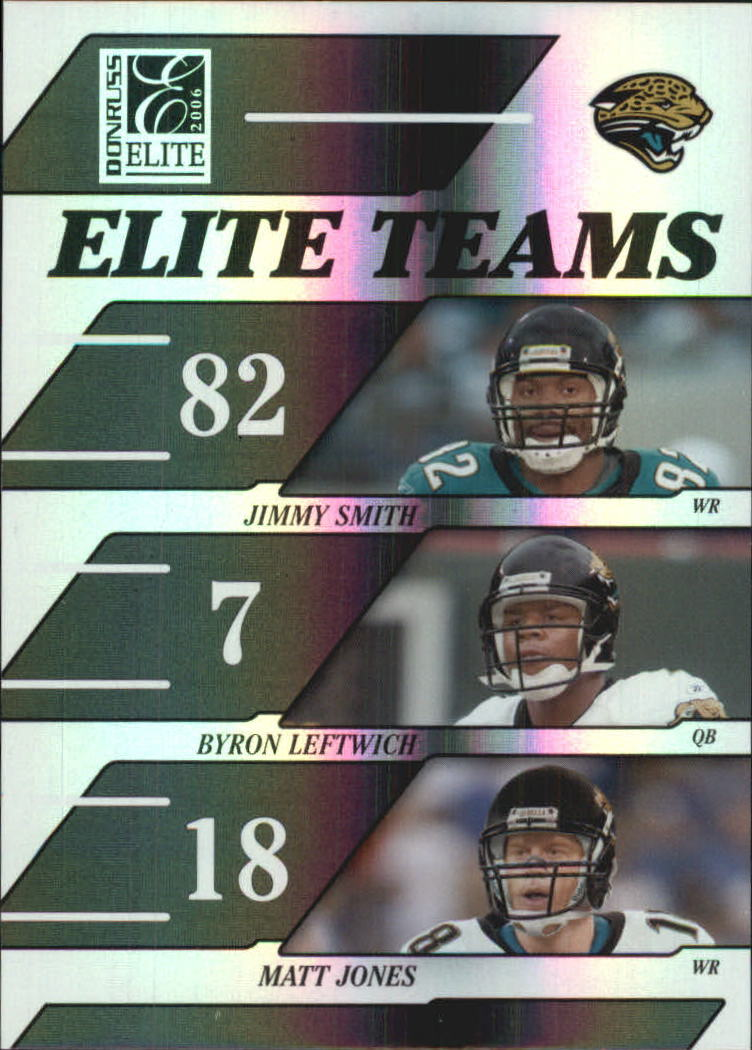 2006 Donruss Elite Elite Teams Black #10 Jimmy Smith/Byron Leftwich/Matt Jones