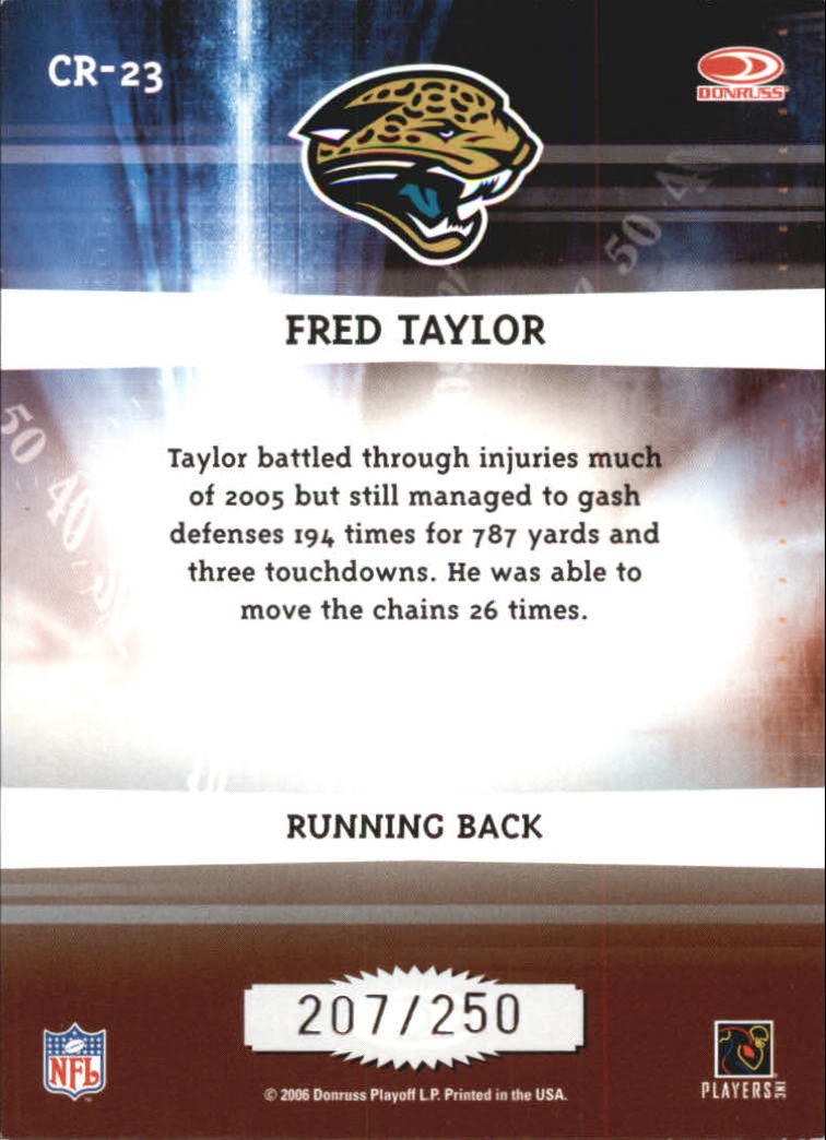 2006 Donruss Elite Chain Reaction Red #23 Fred Taylor back image