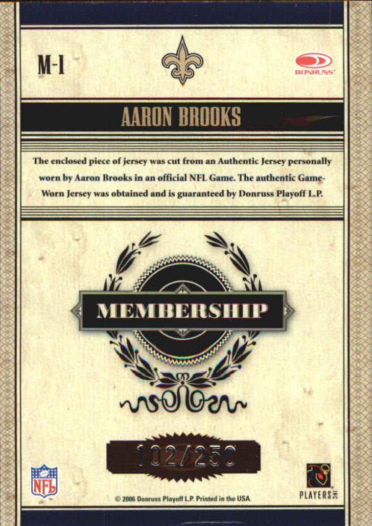 2006 Donruss Classics Membership VIP Jerseys #1 Aaron Brooks back image