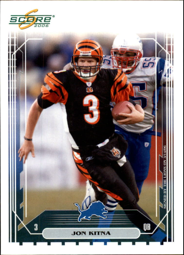 2006 Score #59A Jon Kitna/Bengals photo/pack only