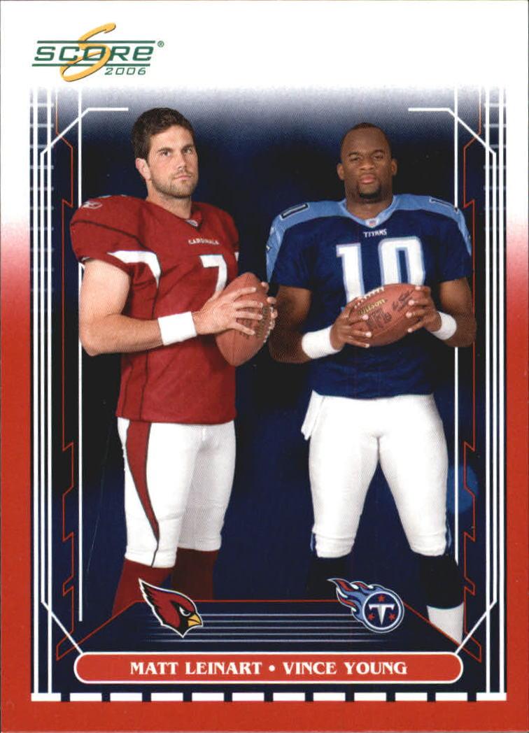 2006 Score Red #329 Matt Leinart/Vince Young