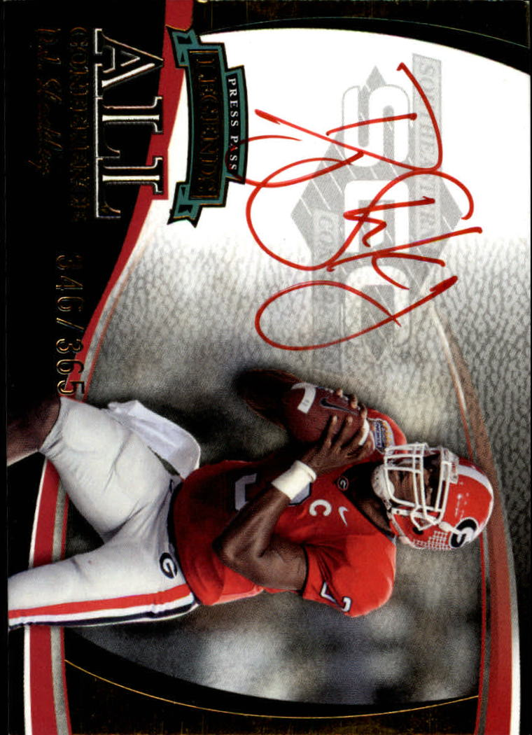 2006 Press Pass Legends All Conference Autographs Gold #16 D.J. Shockley/365