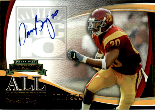 2006 Press Pass Legends All Conference Autographs Gold #2 Darnell Bing/255