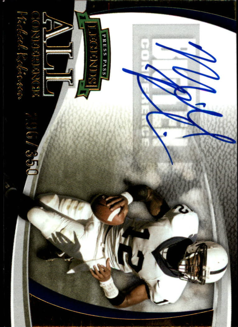 2006 Press Pass Legends All Conference Autographs Gold #15 Michael Robinson/350