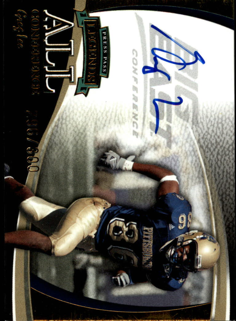 2006 Press Pass Legends All Conference Autographs Gold #11 Greg Lee/310