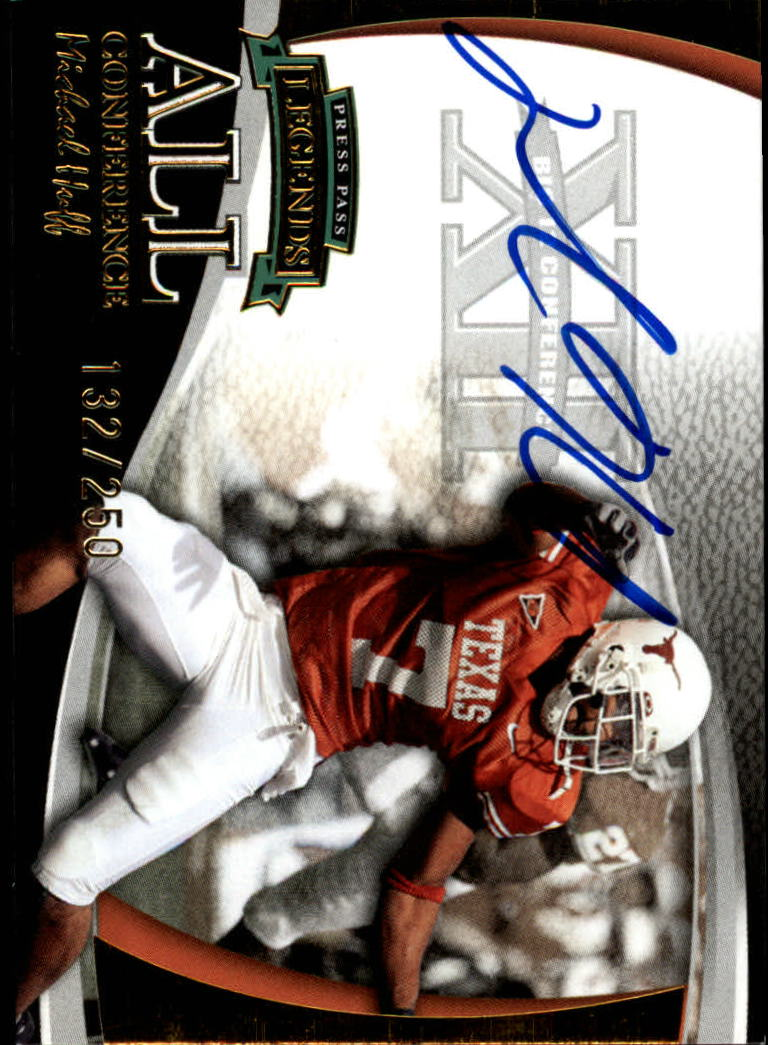 2006 Press Pass Legends All Conference Autographs Gold #9 Michael Huff/250