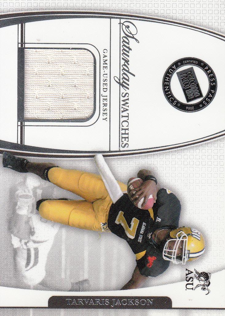2006 Press Pass Legends Saturday Swatches #TJ Tarvaris Jackson