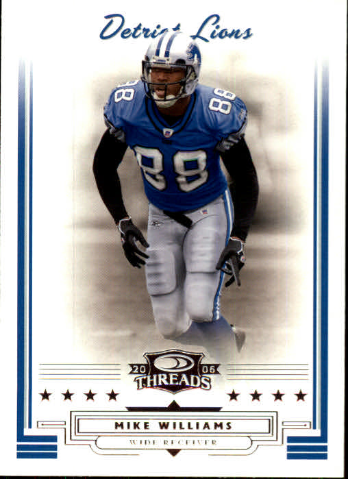 2006 Donruss Threads #8 Mike Williams