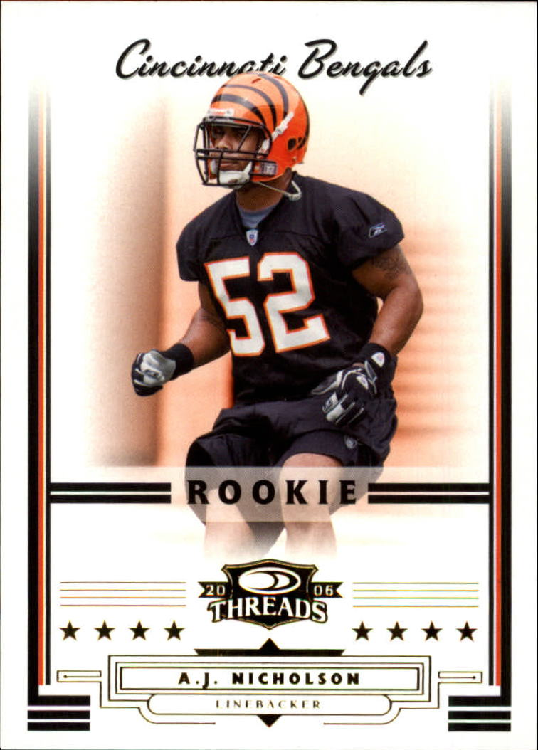 2006 Donruss Threads Retail Rookies #202 A.J. Nicholson RC