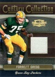 2006 Donruss Threads Century Collection Materials #2 Forrest Gregg