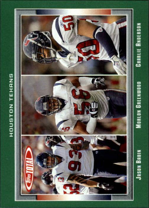 2006 Topps Total #146 Charlie Anderson/Jason Babin/Morlon Greenwood