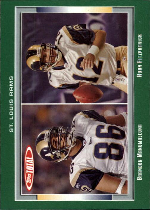 2006 Topps Total #278 Brandon Manumaleuna/Ryan Fitzpatrick