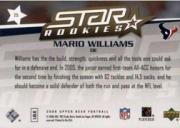 2006 Upper Deck #215 Mario Williams RC back image