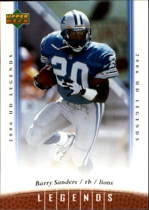 2006 Upper Deck Legends #3 Barry Sanders