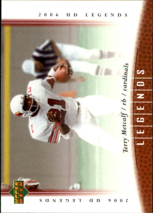 2006 Upper Deck Legends #70 Terry Metcalf