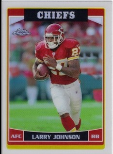 2006 Topps Chrome Refractors #62 Larry Johnson