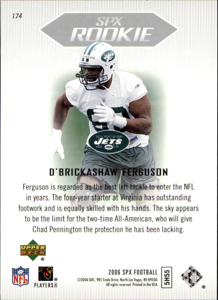 2006 SPx #174 D'Brickashaw Ferguson RC back image