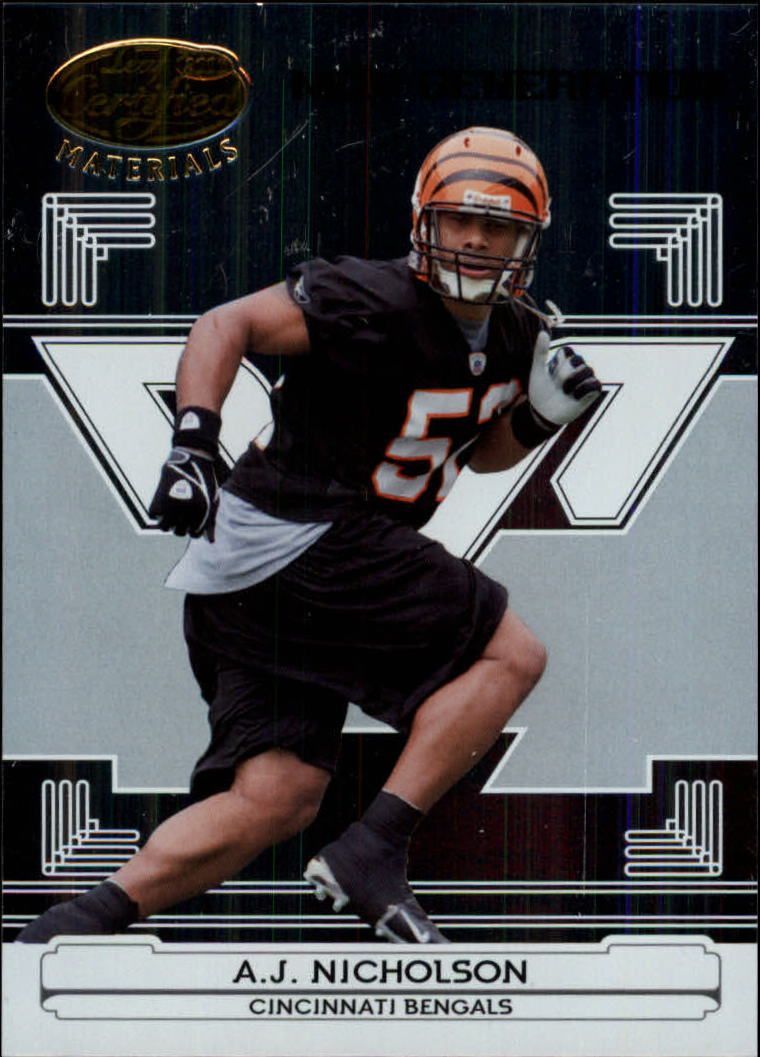 2006 Leaf Certified Materials #163 A.J. Nicholson/1000 RC