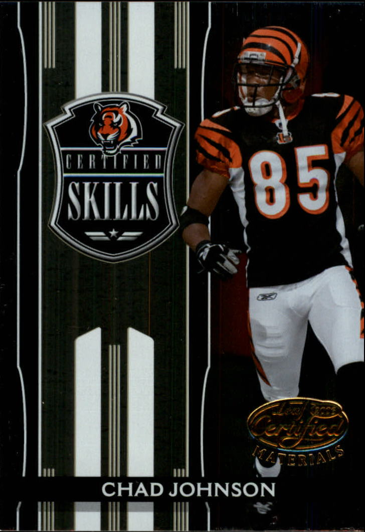2006 Leaf Certified Materials Certified Skills Gold #4 Chad Johnson
