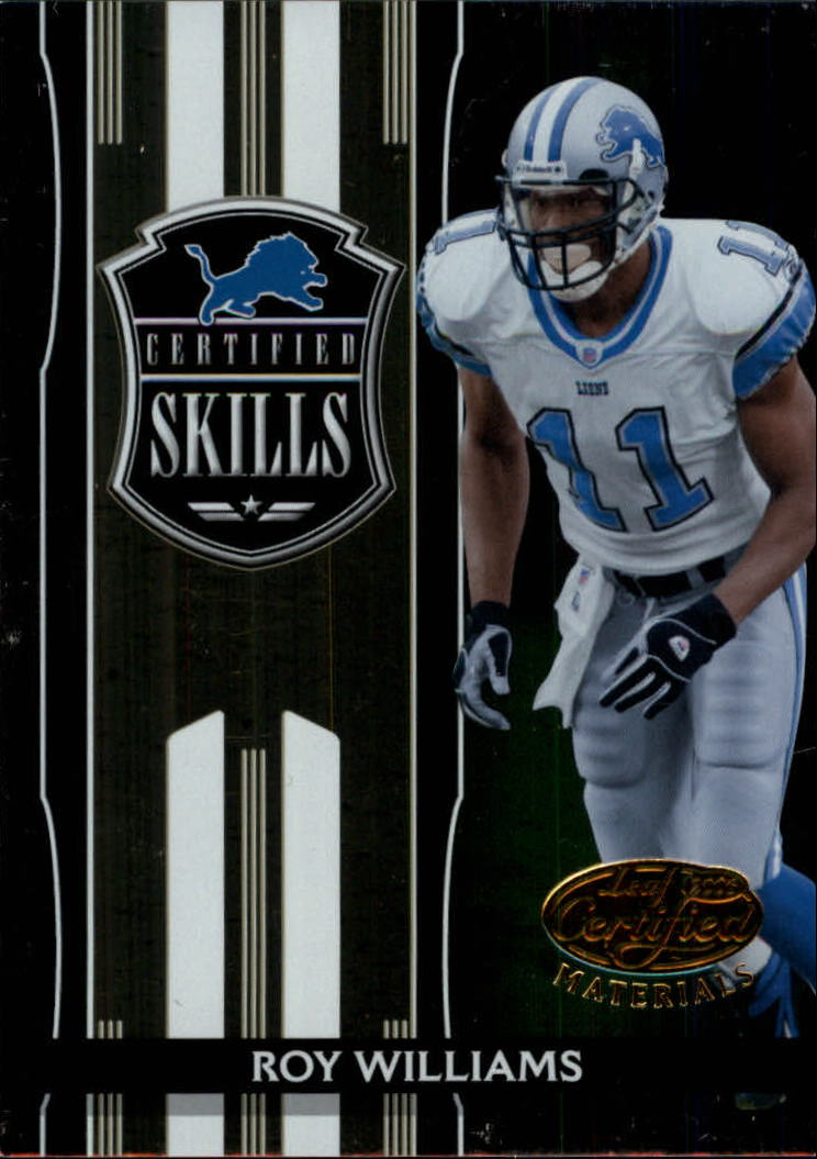 2006 Leaf Certified Materials Certified Skills Gold #14 Roy Williams WR