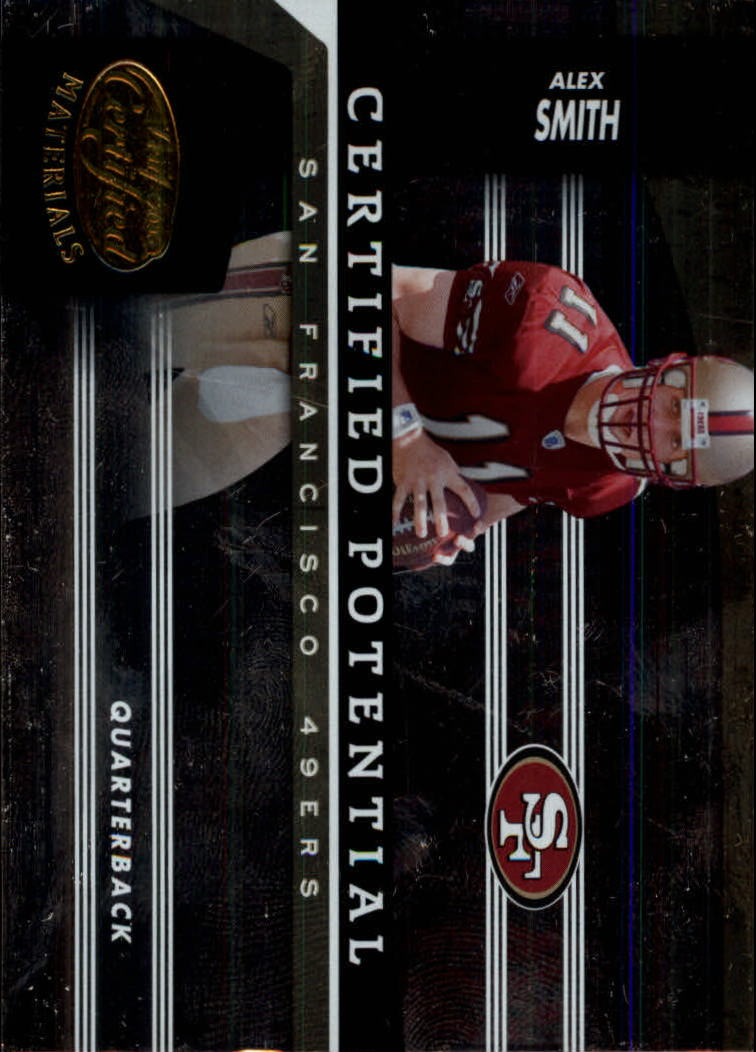 2006 Leaf Certified Materials Certified Potential Gold #1 Alex Smith QB