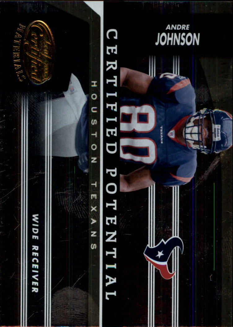 2006 Leaf Certified Materials Certified Potential Gold #2 Andre Johnson