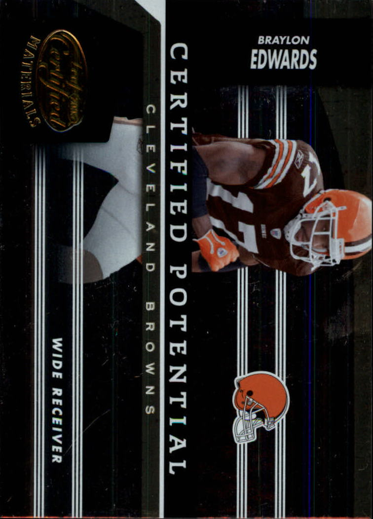 2006 Leaf Certified Materials Certified Potential Gold #3 Braylon Edwards