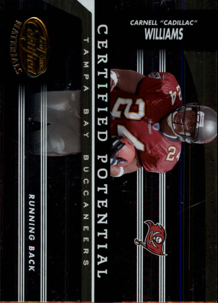 2006 Leaf Certified Materials Certified Potential Gold #4 Cadillac Williams