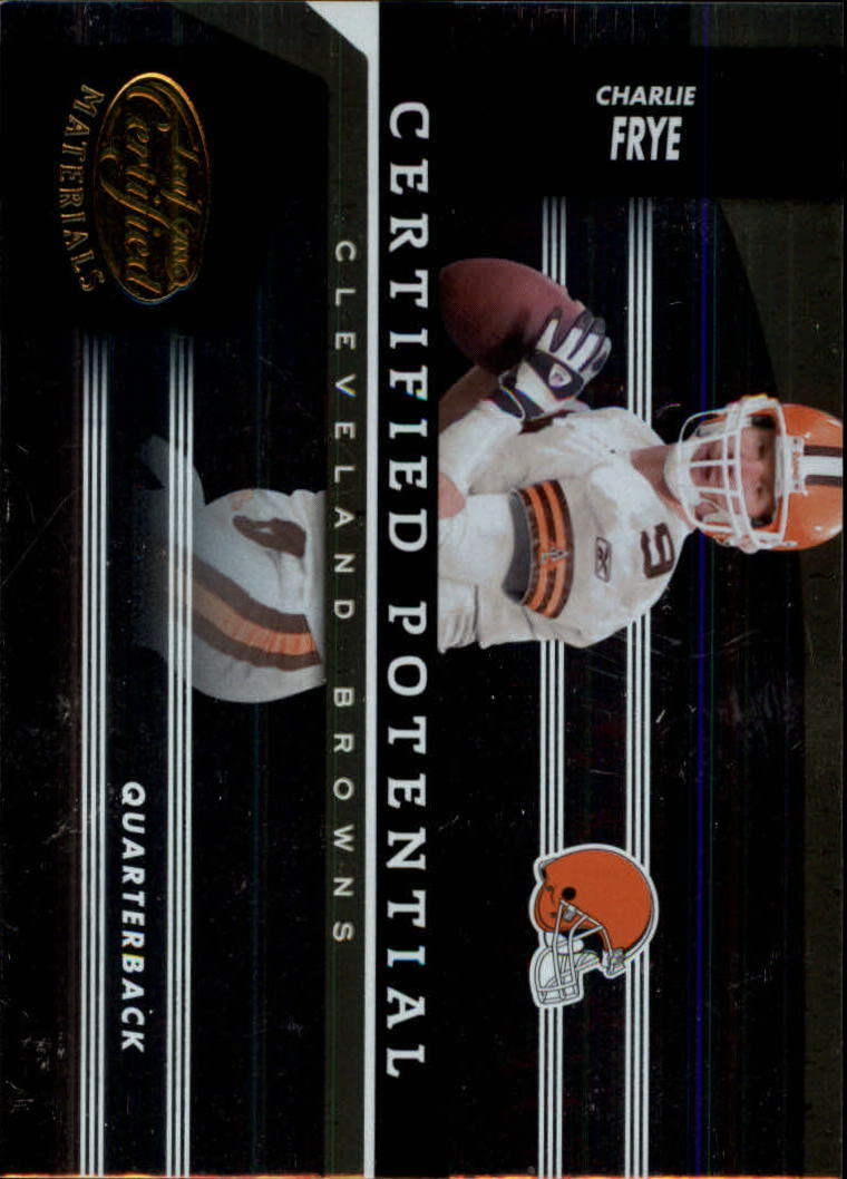 2006 Leaf Certified Materials Certified Potential Gold #6 Charlie Frye