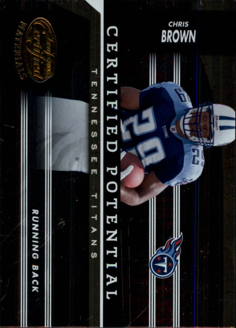 2006 Leaf Certified Materials Certified Potential Gold #7 Chris Brown