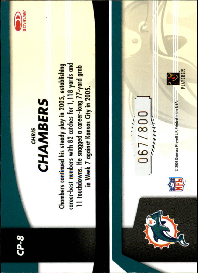 2006 Leaf Certified Materials Certified Potential Gold #8 Chris Chambers back image