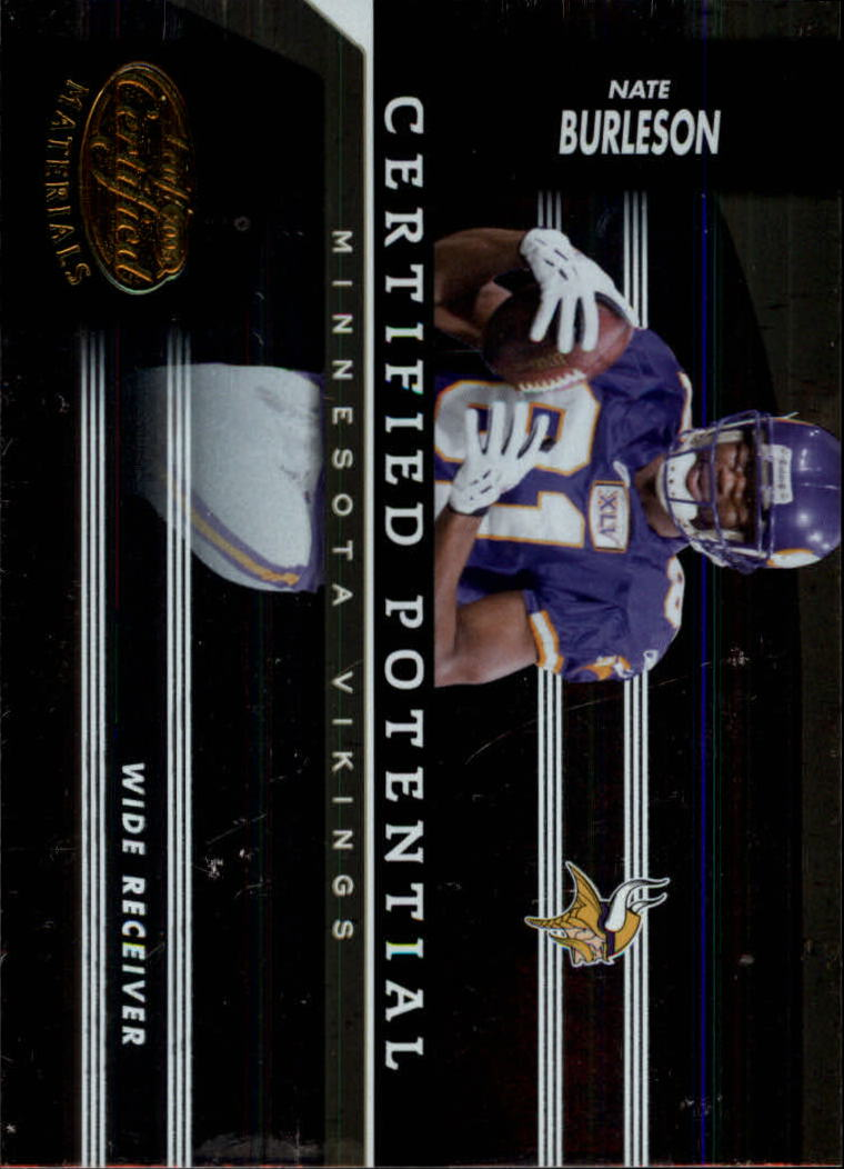 2006 Leaf Certified Materials Certified Potential Gold #14 Nate Burleson