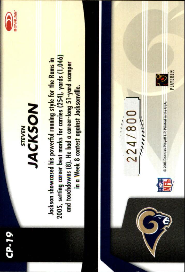 2006 Leaf Certified Materials Certified Potential Gold #19 Steven Jackson back image