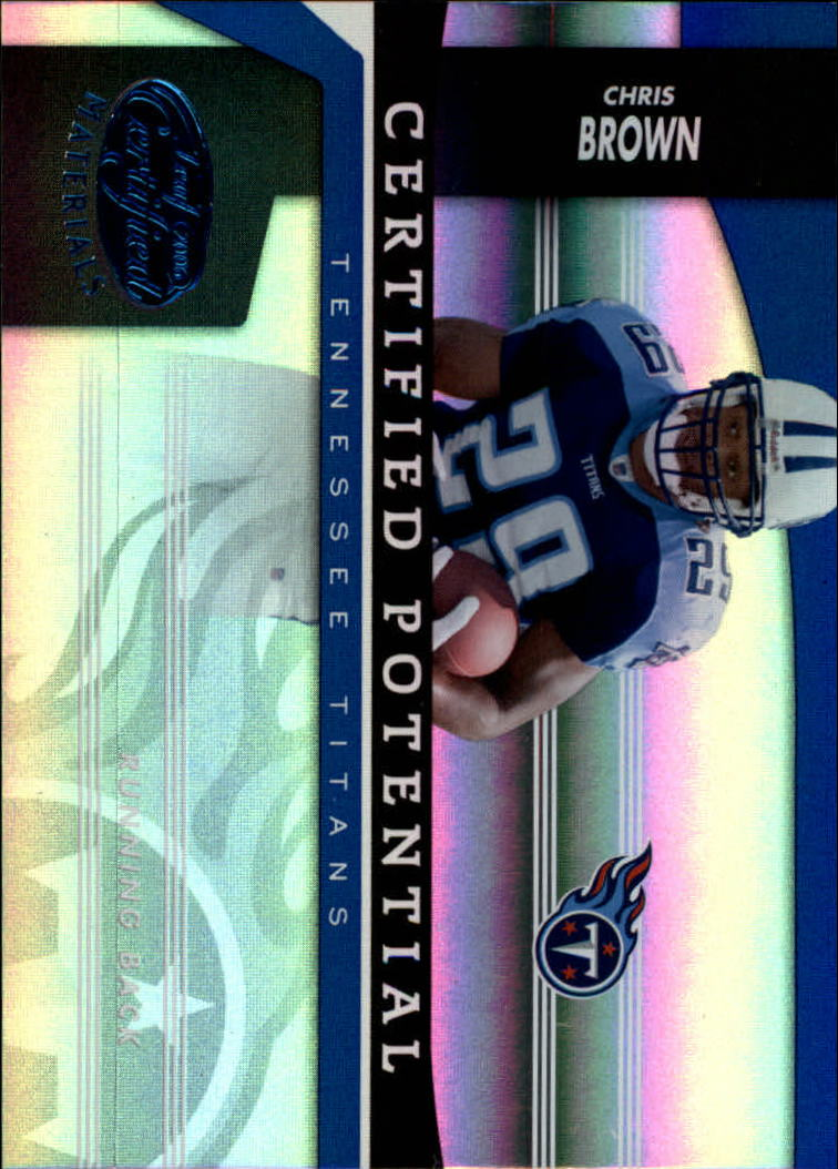 2006 Leaf Certified Materials Certified Potential Blue #7 Chris Brown