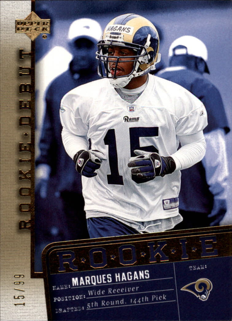 2006 Upper Deck Rookie Debut Gold #188 Marques Hagans