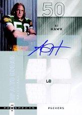 2006 Hot Prospects #210 A.J. Hawk JSY AU RC
