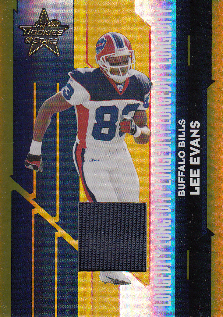 2006 Leaf Rookies and Stars Materials Longevity Gold #12 Lee Evans