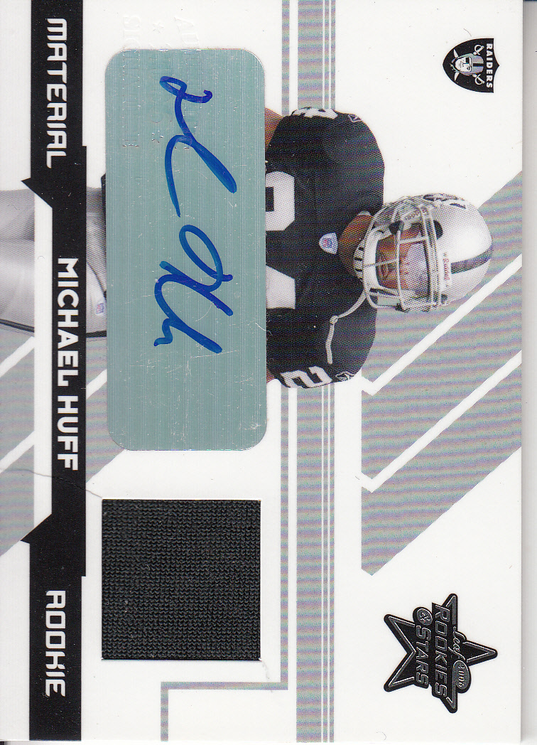 2006 Leaf Rookies and Stars Rookie Material Autographs #269 Michael Huff/25
