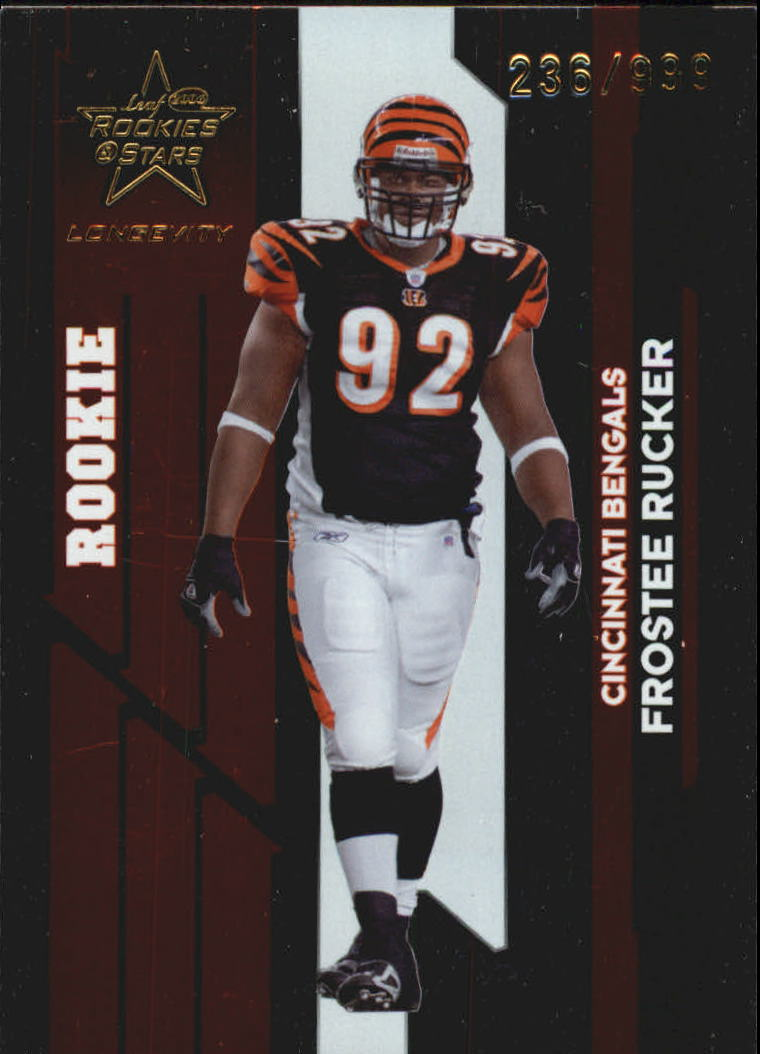 2006 Leaf Rookies and Stars Longevity Target #133 Frostee Rucker RC