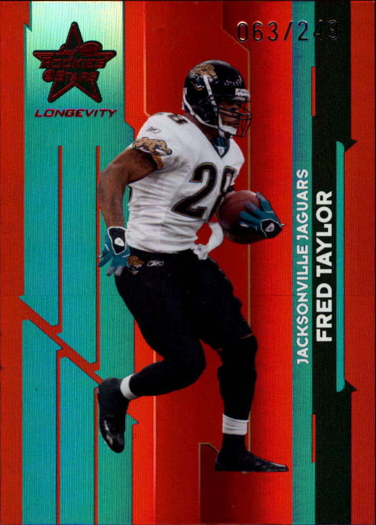 2006 Leaf Rookies and Stars Longevity Target Ruby Parallel #51 Fred Taylor
