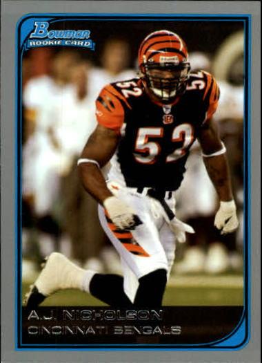 2006 Bowman #198 A.J. Nicholson RC